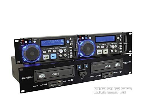 Omnitronic XDP-2800 dubbele CD / MP3-speler (2 x USB 2.0, 2 x SD-kaartsleuf) zwart