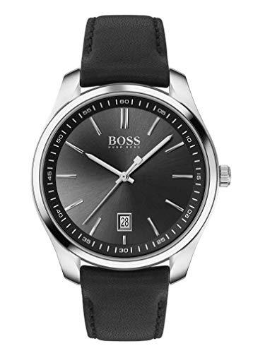Hugo Boss Reloj Analógico para Hombre de Cuarzo con Correa en Cuero 1513729