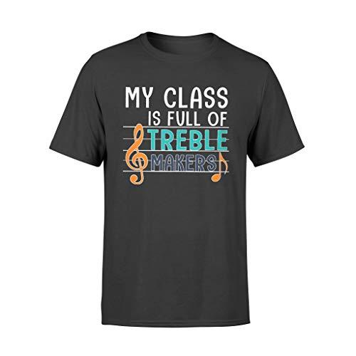 T-shirt standard My Class is Full of Treble Makers Nero L