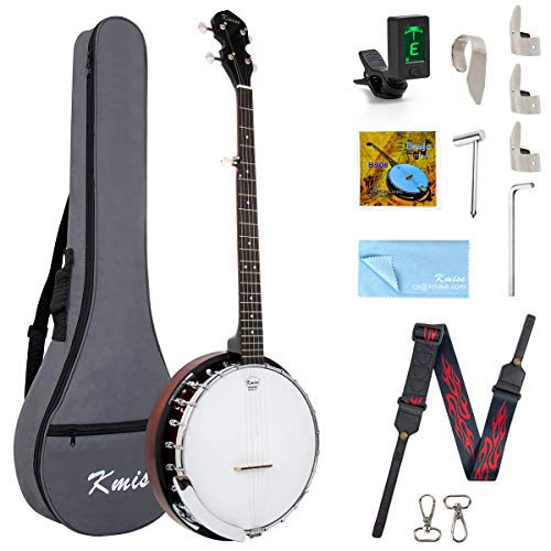Kmise 5 String Banjo Remo Head Closed Sapele Back With Bag Tuner Strap Strings Pickup Picks Ruler Wrench Bridge