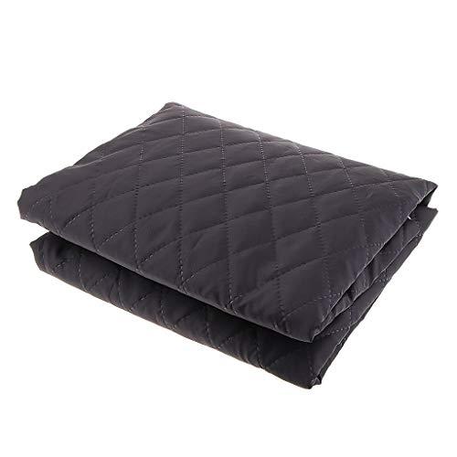 Tela Acolchada de Poliéster/Algodón Paño de Doble Cara para Vestidos Largos 145 x 100 cm - Negro