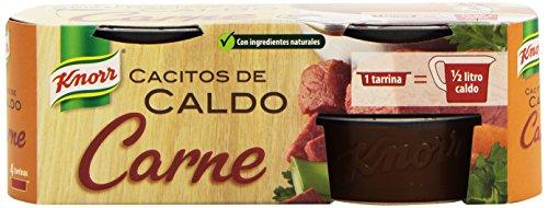 Knorr Cacito de Caldo Carne, 4 Tarrinas