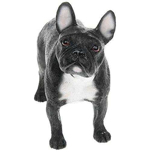 Hundeornament französische Bulldogge (13 cm) (Schwarz)