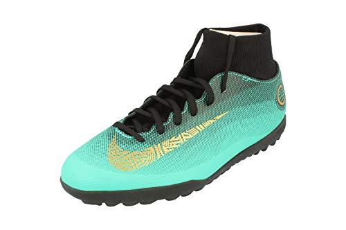 Nike SuperflyX 6 Club CR7 TF Herren Football Boots AJ3570 Soccer Cleats (UK 11 US 12 EU 46, Clear Jade Vivd Gold 390)