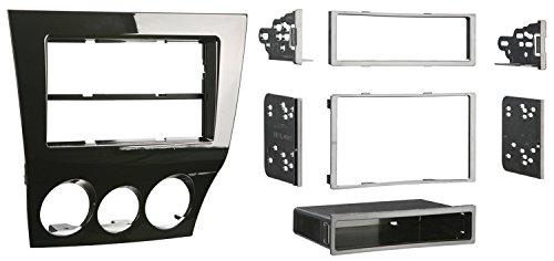 Metra 99-7515HG Mazda RX-8 2009-Up Installation Dash Kit for Single or Double DIN/ISO Radios,black