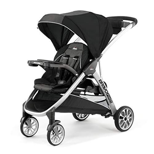 Best Buy! Chicco BravoFor2 Standing/Sitting Double Stroller, Iron