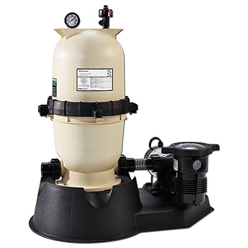 Pentair PNCC0075OE1160 Clean and Clear Aboveground Cartridge Pool and Spa Filter System, 1 HP