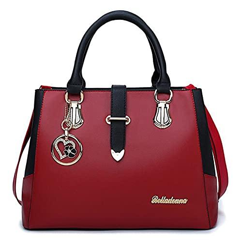 QQWA Damen Elegante Handtasche Umhängetasche Brieftasche Frauen Und Männer Telefon Umhängetasche Geldbörse Handtasche,Rotwein