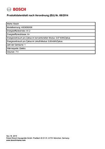 Bosch HSG636XS6 - Horno (Medio, Integrado, Acero inoxidable, Sensor, Tocar, Eléctrico, Frente)