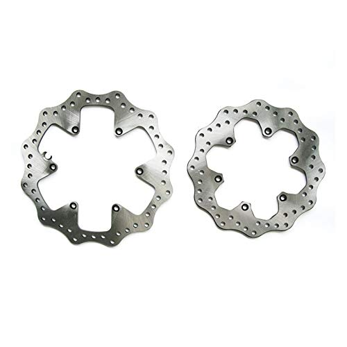 SZHSM Motocross Bicycle Front And Back Disk Brake M-T-B Road Brake Disc 220mm 260mm For K-T-M HUSQVA-RNA FC TE FS FX EXC SXF XCFW (Color : Front)
