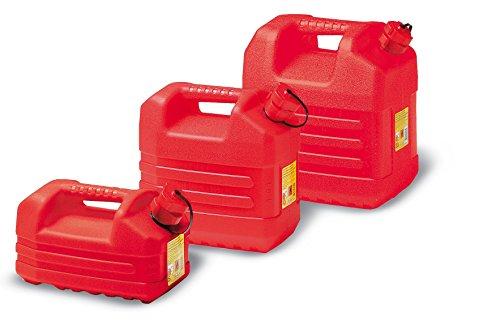 Eda Plastiques Jerrican Rouge 5L pour Essence, Rojo, 5 l