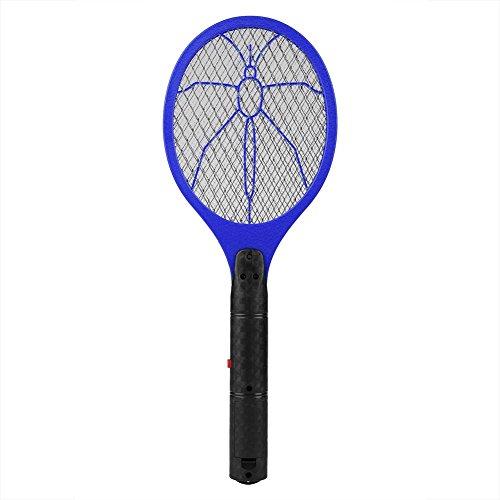 HYLDM Scacciazanzare Elettrico Cordless Battery Power Electric Fly Bug Zapper Racchetta Insetti Killer (Blu)