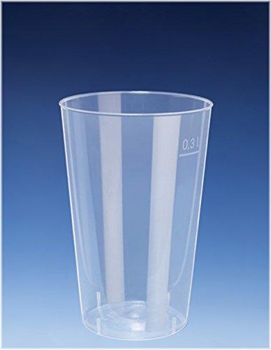 EVENTpac 50x 300ml Cocktail Becher/Trinkbecher aus PP/nahezu unkaputtbar/alt. Zu Mehrweg/Mehrwegbecher