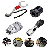 arbuio Kit de Herramientas de reparación de Bicicletas 4pcs / Set Kit de Herramientas de reparación de eliminación de Extractor de Eje de Cadena de manivela de Bicicleta genérico-Conjunto