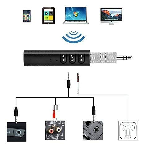 Azacus 3.5mm Jack Bluetooth V4.1 Hands Free Music Audio Receiver Adapter AUX...
