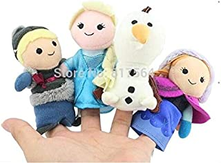 TREGIA New Princess Anne Kristoff Finger Puppets Stuffed Girl Doll Toys Tell Story 1 Set of 4 Must Haves for Kids Friendship Gifts The Favourite Superhero Coloring Children Immaginaton World