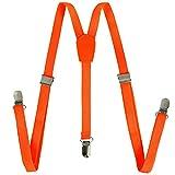 Orange Suspenders - Orange Skinny Suspenders - Adjustable Skinny Suspenders - Colored Suspenders by CoverYourHair