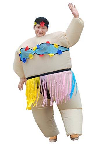 Snuter Traje inflable de sumo Adulto divertido traje de sumo Traje hawaiano inflable para adultos siendo 1.6-1.9M