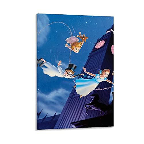 Póster de Big Ben Peter Pan de lienzo para pared, impresión artística moderna para habitación familiar, 40 x 60 cm