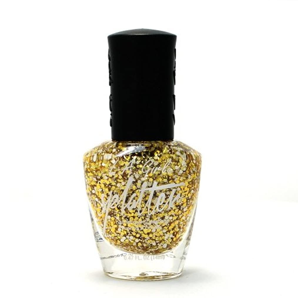 分析的な明快試験LA GIRL Splatter Nail Polish - Sparkle (並行輸入品)