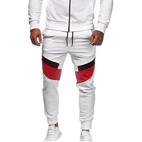 U/A Bolsillo Cintura Elástico Pantalones De Los Hombres Pantalones Corredores Masculinos De Tobillo-Longitud Para