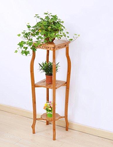 Plante Théâtre Bambou geschnitzte sol style fleur Racks bois massif Plusieurs Niveaux Salon Balcon Fleur Pot Rack Idée Cadeau Jardiniers, 2