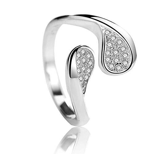 Zirkoon open ring met diamanten ring Modieuze persoonlijkheid creatieve enkele ring dames wilde sieraden geschikt als cadeau voor moeder