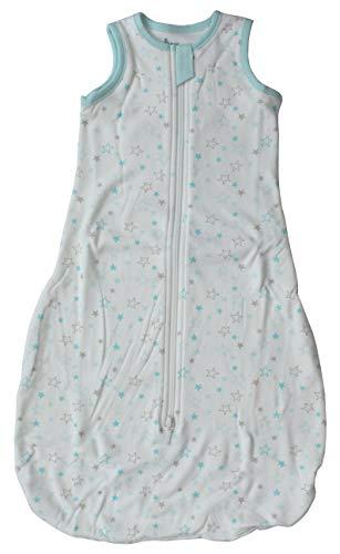 Baby Schlafsack Jungen Mädchen Sommerschlafsack Baumwolle 70 cm (Sterne)