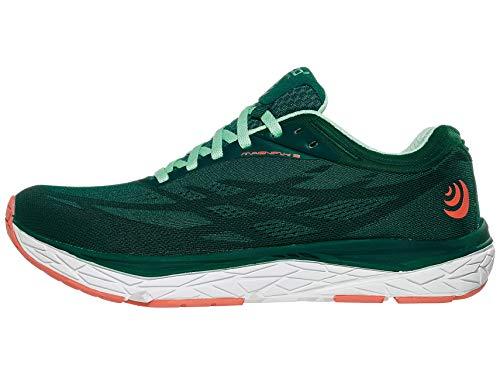 Topo Athletic Women's Cushioned Zero Drop Magnifly 3 Road Running Shoe, Emerald/Sky, Size 8