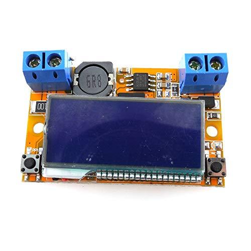 3A DC-DC Fuente de alimentación regulable reductora Convertidor Buck Regulador LCD regulable Reductor de voltaje reductor - Tablero - Azul y naranja