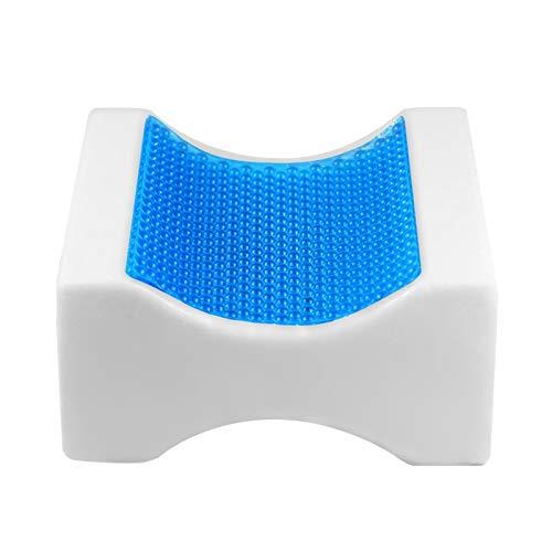 JONJUMP Cojín de espuma viscoelástica para rodillas de gel Sb para dormir de lado, para alinear la columna vertebral del embarazo almohadillas de apoyo para la espalda