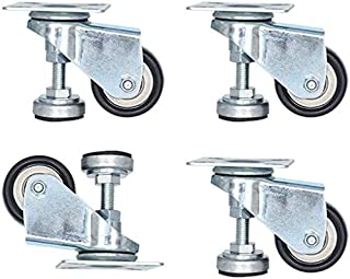 Caster 4pcs Swivel Casters,2in Leveling Machine Castors With Support,4-Wheel Load 240KG,Used For Furniture,Medical And Lab...