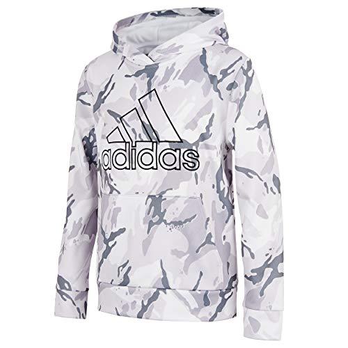 adidas Active Sport Athletic Pullover Hooded Sweatshirt Sudadera con Capucha, Core Camo Blanco, L para Niños