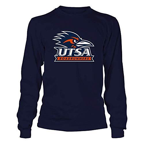 FanPrint UTSA Roadrunners T-Shirt - Big Logo - Longsleeve Tee/Navy/M