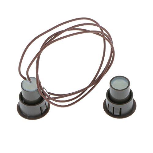 perfk Interruptor de Alarma de Seguridad de Seguridad para Ventana/Puerta Empotrada 1PC Reed - marrón