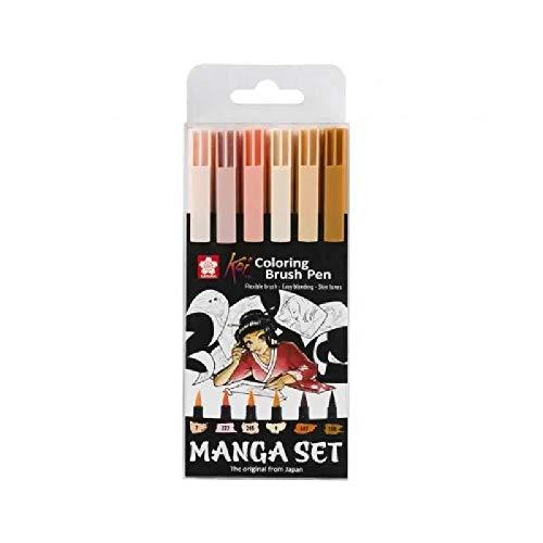 Sakura Koi Coloring Brush Pen Skin Tones 6 Pack
