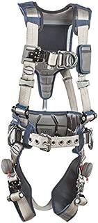 3M DBI-SALA 1112541 ExoFit STRATA, Aluminum 4 D-Rings, Tri-Lock Revolver QC Buckles with Sewn in Hip Pad/Belt, Medium, Blue/Gray