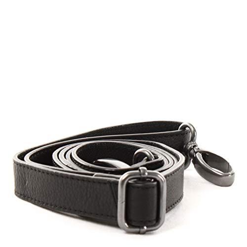 LECONI Trageriemen Schulterriemen längenverstellbarer Trage-Gurt für Damentaschen und Herrentaschen Nappa-Leder 150cm 2,5x150cm schwarz LEC-R7