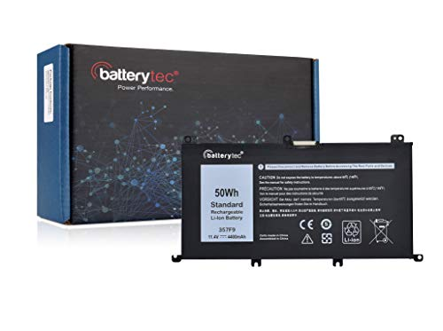 Batterytec Batería para DELL 357F9, DELL G5 15 G5 5587 Serie DELL G3 17 G3 3779 Serie DELL G3 15 3579 5579 Serie DELL G7 15 G7 15-7588 15-5579 15-5578 7577 15-5577 15-7567 15-7559 15-7557 Serie.