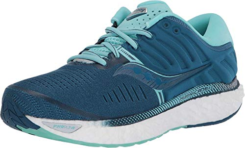Saucony Women's S10545-25 Hurricane 22 Running Shoe, Blue | Aqua - 7.5 W US