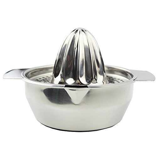 Stainless Steel Manual Juicer Fruit Lemon Lime Orange Squeezer with Bowl Juicer Strainer