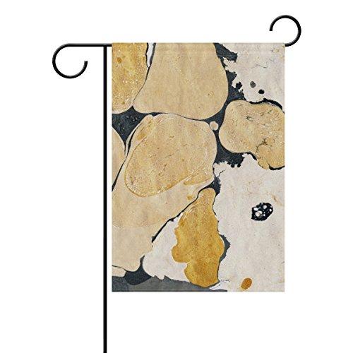 Jstel Home d'encre en marbre abstraite Tissu Polyester Garden drapeaux Lovely et résistant aux moisissures personnalisés imperméables de 71,1 x 101,6 cm
