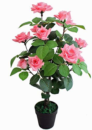 Yanka-style - Rosa artificial con maceta de aprox. JWT3072