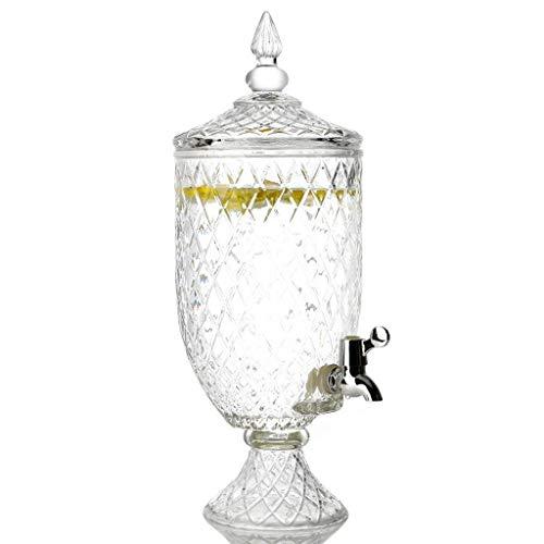 XHHWJJ Teeglas Getränkespender und Glasdeckel Unterhaltung Haushalt & Küche Glaswaren Wasserkrug für Saft, Wein, Kombucha und kalte Getränke, 4,5 l (größe : 4.5L)
