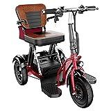 SXFYHXY Mini Triciclo Eléctrico Scooter Viejo Coche Eléctrico Plegable Coche para Adultos con Discapacidad 300W Potencia del Motor Peso Corporal 26KG -3 Cambio De Marchas - Kilometraje Máximo 30Km