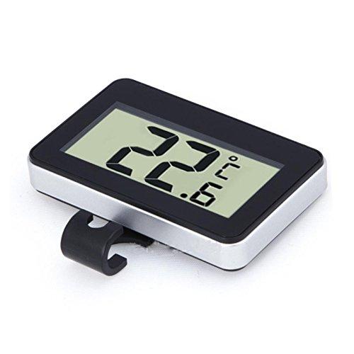 WOVELOT Nuovo termometro Digitale Wireless con Gancio Magnete per Frigorifero congelatore Fridgecolor (Nero)