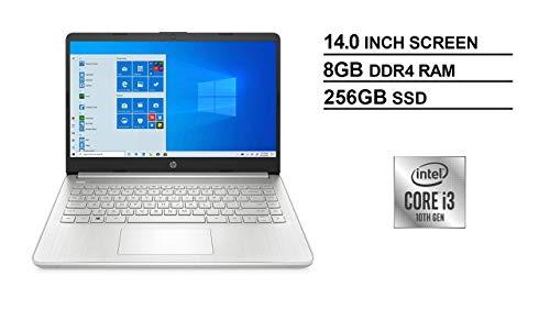 HP 14' FHD IPS WLED-Backlit Laptop, 10th Gen Intel Core i3-1005G1 up to 3.4GHz, 8GB DDR4, 256GB PCIe NVMe SSD, 802.11ac, Bluetooth, Backlit Keyboard, HD Webcam, HD Audio, USB 3.1-C, HDMI, Windows 10