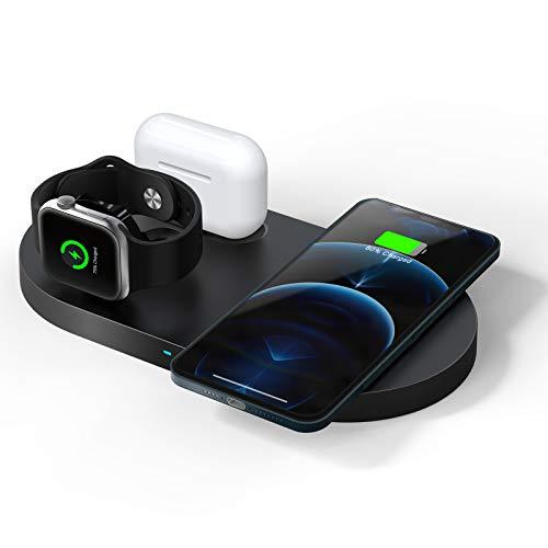 QI-EU WirelessCharger, 23WFastWirelessChargingStation,3 in 1 Qi-CertifiedChargingPad...
