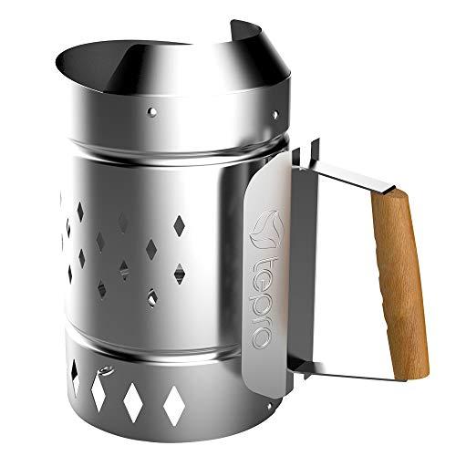tepro Akcesoria do grilla kominek do rozpalania grilla, do węgla drzewnego i brykietów ze stali ocynkowanej