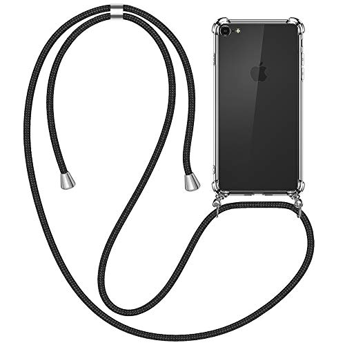 yotame Handykette Handyhülle für iPhone SE 2020, iPhone 8 Handyhülle mit Kordel Necklace Schnur Transparent Silikon Schutzhülle iPhone 7 Anti-Scratch Umhängen Necklace Hülle für iPhone 7/8/SE